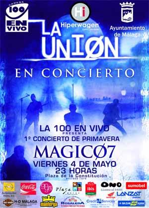 Concierto de La Unión en Málaga